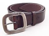 Кожаный ремень Timberland коричневый, фото 2