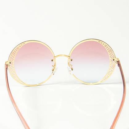 Оптом женские солнцезащитные круглые очки  (арт. 80-664/2) розовые, фото 3