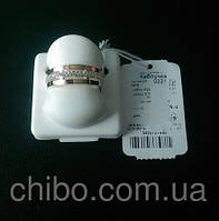 Серебряное кольцо с золотом и цирконием 0221