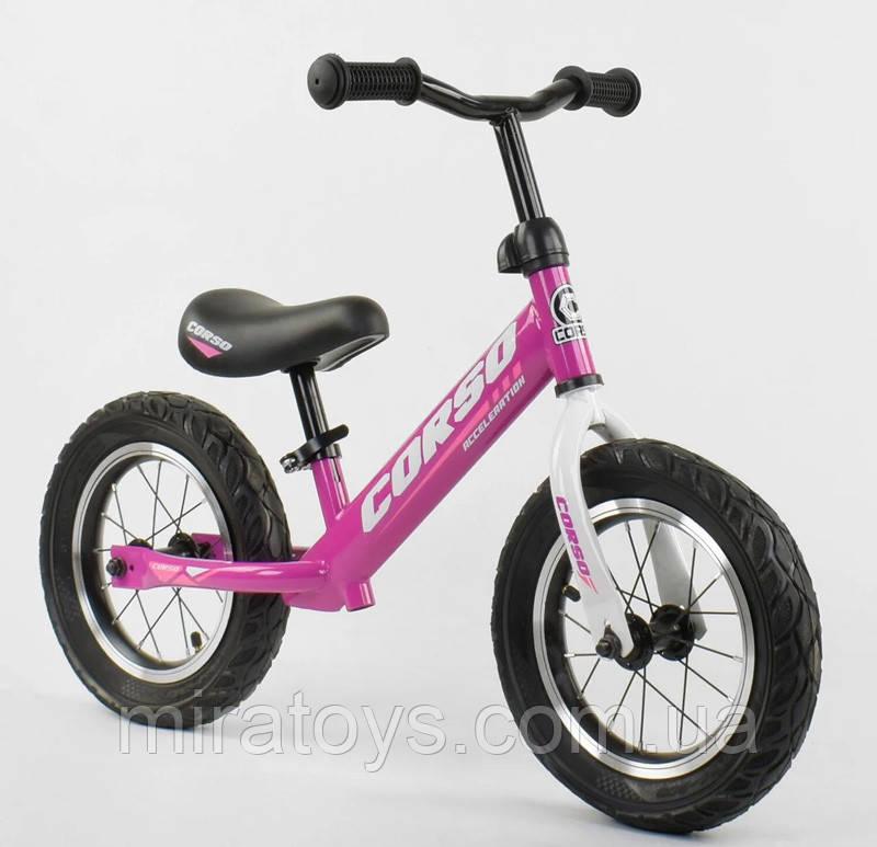 ✅Детский велобег (беговел) CORSO 54307, стальная рама, надувные колёса