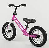 ✅Дитячий велобіг від (беговел) CORSO 54307, сталева рама, надувні колеса, фото 3
