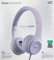 Bluetooth навушники HOCO W21 Violet, фото 3