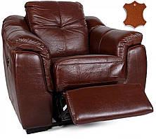 """Кресло с электро-реклайнером """"Бостон"""" коричневый с перфорацией ТМ Nicolas"""