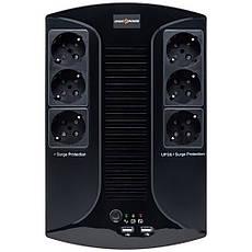 Источник Бесперебойного Питания LogicPower 850VA-6PS 8Ач 12В 595Вт + ПОДАРОК: Настенный Фонарик с регулятором, фото 2
