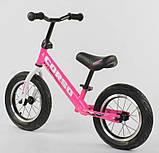 ✅Детский велобег (беговел) CORSO 63908, стальная рама, надувные колёса, фото 2