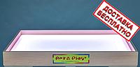 Планшет светодиодный мини 500×330 для рисования песком Ясень белый светодиод. А3, фото 1