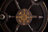Люстра штурвал деревянная с компасом на 3 лампочки, фото 5