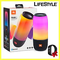 Колонка JBL Pulse 3, Портативная Bluetooth колонка + Xiaomi Mi Band M4 в Подарок