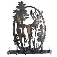 Настенная кованая вешалка для прихожей с рисунком