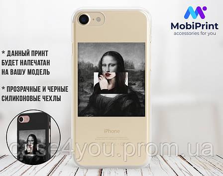 Силиконовый чехол для Xiaomi Redmi 7 Мона Лиза «Джоконда» - Ренессанс (Renaissance Mona Lisa La Gioconda (13030-3398), фото 2