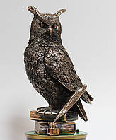 Подарочная статуэтка Сова на книге с медным покрытием