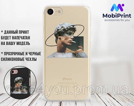 Силиконовый чехол для Apple Iphone 8 Давид Микеланджело - Ренессанс (Renaissance David Michelangelo) (4022-3399), фото 2