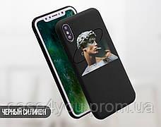 Силиконовый чехол для Apple Iphone XS Давид Микеланджело - Ренессанс (Renaissance David Michelangelo) (4026-3399), фото 3