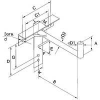 Кронштейн для крепления антенны настенный под 1,60 м