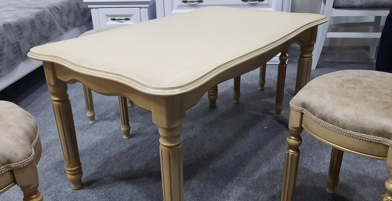 Стол журнальный Венецианский Микс мебель, цвет  слоновая кость с патиной