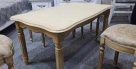 Стол журнальный прямоугольный с резными ножками Венецианский Микс мебель, цвет  слоновая кость с патиной