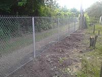 Забор для дачного участка из сетки рабица