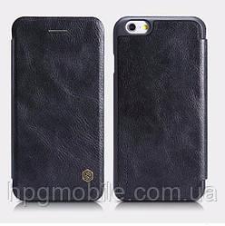 Чехол для iPhone 6 Plus, iPhone 6S Plus - Nillkin Qin leather case, книжка, пластик, PU кожа Черный