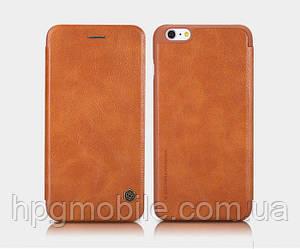Чехол для iPhone 6 Plus, iPhone 6S Plus - Nillkin Qin leather case, книжка, пластик, PU кожа Коричневый