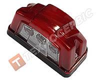Подсветка номера 3LED красный корпус (пр-во Турция)
