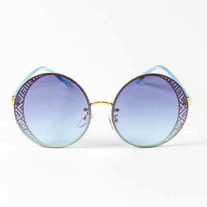 Оптом женские солнцезащитные круглые очки  (арт. 80-664/4) голубые, фото 2