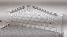 Кровать  Маргарита белая Микс мебель, цвет белый, фото 2