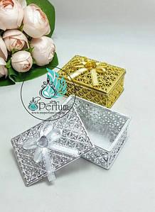 Подарункова коробка золото/срібло