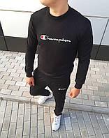 Спортивный стильный костюм Champion logo | Black