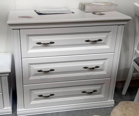 Комод Маргарита массив ольхи Микс мебель, цвет  белый, фото 2