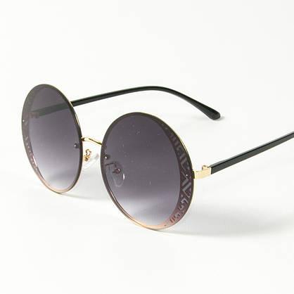 Оптом женские солнцезащитные круглые очки  (арт. 80-664/5) черные, фото 3