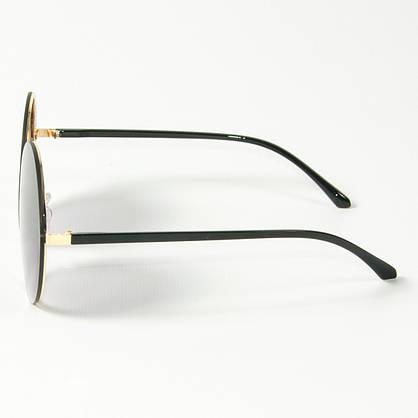 Оптом женские солнцезащитные круглые очки  (арт. 80-664/5) черные, фото 2