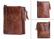 Мужской кошелек с натуральной кожи Crazy Horse 2 цвета в наличии, фото 2