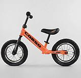 ✅Детский велобег (беговел) CORSO 68170, стальная рама, надувные колёса, фото 2