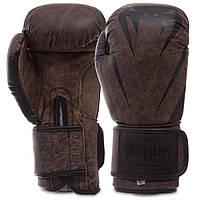 Перчатки для бокса и единоборств VENUM кожаные 0700 Brown-Black 14 унций