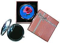 Зеркальце в подарочной упаковке Роза LOVE №7006-7-8