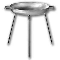 Сковорода из диска бороны 32 см для пикника из нержавеющей стали