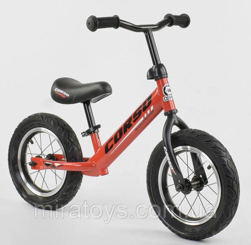 ✅Детский велобег (беговел) CORSO 71860, стальная рама, надувные колёса
