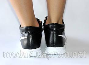 Женские подростковые кроссовки Nike черные реплика 41р, фото 3