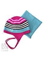 Зимняя шапка+манишка для девочки Nano 266 TC F14 Gerbera. Размер 7/10.