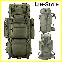 Тактический Штурмовой Военный Рюкзак 65л Oxford 600D / Армейский рюкзак