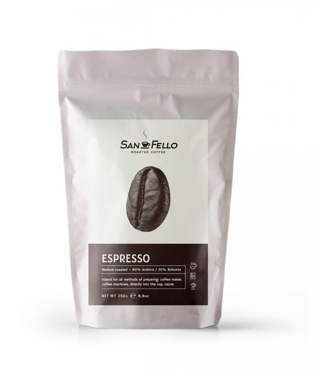 Кофе в зернах свежая обжарка Espresso 1 Кг