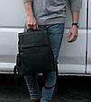 Мужской городской рюкзак из натуральной кожи Marrant - черный, фото 2