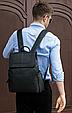 Мужской городской рюкзак из натуральной кожи Marrant - черный, фото 3