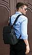 Мужской городской рюкзак из натуральной кожи Marrant - черный, фото 4