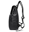Мужской городской рюкзак из натуральной кожи Marrant - черный, фото 8