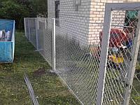 Ограждения сеткой рабица, фото 1