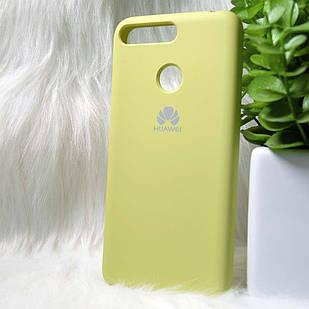 Силіконовий чохол Original Silicone case Huawei Y6 Prime 2018 Light green (зелений)