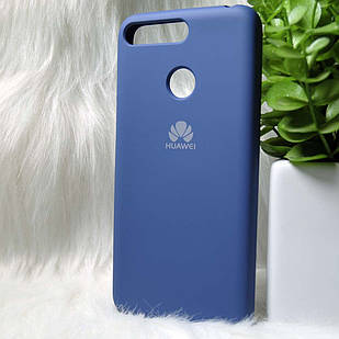 Силіконовий чохол Original Silicone case Huawei Y6 Prime 2018 Blue (синій)