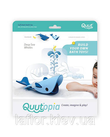 Игрушки для ванной 3D Морские киты ТМ Quut, фото 2