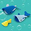 Игрушки для ванной 3D Морские киты ТМ Quut, фото 5